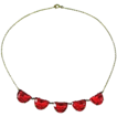 Czech Glass and Brass Necklace