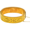 Victorian Gold Filled Heavily Etched Hinged Bangle Bracelet