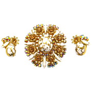Juliana Gold and White Rhinestones Demi