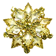 Juliana Jonquil Diamond Shaped Stones Brooch