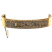 Victorian Gold Plated Etruscan Work Hinged Bangle