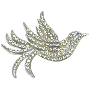 Pot Metal Exotic Bird Brooch