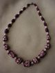 Art Deco Carved & Dyed Celluloid Bead Necklace