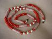 Vintage Molded Plastic Floral Bead Necklace