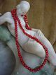 Vintage Venetian Wedding Cake Red Glass Beads Necklace