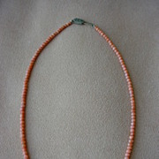 SALE Gorgeous Dainty Antique Coral Bead Necklace