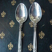 SALE Pair Birks Sterling Silver Chantilly demitasse spoons