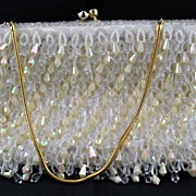 1950's 1950s Vintage Bridal Designer White Pearl Beaded Purse Handmade in Hong Kong LaRegale