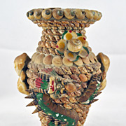 02:34 PM) Kenneth Varner: Unique hand done vase w sea shells - large green dragon on the front