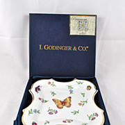 FREE SHIPPING I. Godinger & Co. Botanical Floral Butterfly Lady Bug Bumble Bee Hand Painted Go