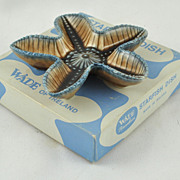 FREE SHIPPING 1960's 1960s Made in Ireland in Original Box Starfish Wade Aqua Dishes Collector