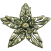 Vintage CORO Sterling Silver STAR Brooch Floral Accent 1950's