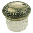 Art Nouveau Ornate Cut Glass Dresser Jar Sterling Lid Tiny Size Foster & Bailey
