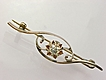 Victorian Era Rose Cut Diamond 10k Rose Gold Pin