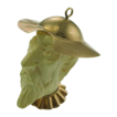 Incredible Pendant / Charm of Don Quixote 8K Gold & Bone, Circa 1800's