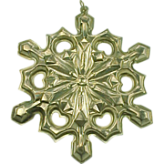 Sterling Silver 1979 Gorham SNOW FLAKE Ornament