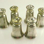 Six Gorham Sterling Silver Individual Salt & Pepper  Shakers