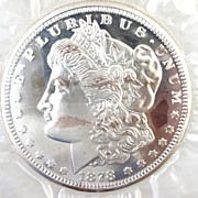 TWELVE TROY OUNCE Collectible PROOF Morgan Silver Dollar - 0.999 FINE Bullion
