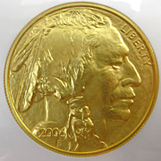 2006 Collectible U.S. $50 Gold Buffalo Coin - NGC Certified MS70 - First Strikes