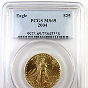 2004 Gold $25 American Eagle Coin - PCGS Certified MS69 - 1/2 Oz.