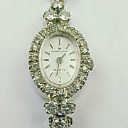 Vintage Ladies Hamilton 14k Gold Diamond Dress Watch