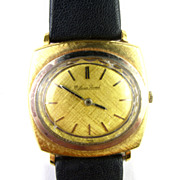 Vintage Lucien Picard Watch With Box & Papers 18K Gold Gents