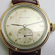 Gents Vintage Movado Wristwatch Rose Tone