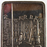 "Vintage Collectible Silver Bar - Norman Rockwell - ""Shuffleton Barber Shop"" - 0.999"