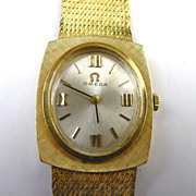 Vintage Omega 14k Gold Ladies Wristwatch - 5X Signed