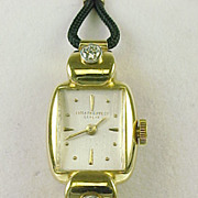 Vintage Patek Philippe Geneve - 18k Gold & Diamond Ladies Wristwatch - Fancy Hooded Lug