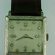 Vintage Paul Breguette 14k White Gold Wrist Watch, Gents