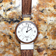 "Vintage Van Cleef & Arpels ""La Collection"" Stainless and 18k Gold Wristwatch"