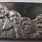 Vintage Collectible 1973 Fine Silver Bar - Mount Rushmore - .999 Bullion