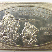 Vintage Collectible 1973 Fine Silver Bar - California Gold Discovery - .999 Bullion