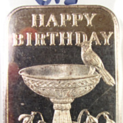 Vintage Collectible 1984 Fine Silver Bar - HAPPY BIRTHDAY - .999 Bullion