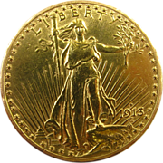 1913-D Gold $20 Saint Gaudens Double Eagle U.S. Coin