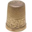 Ornate 14k Gold Thimble Size 9 Scenic Engraving / Personalized