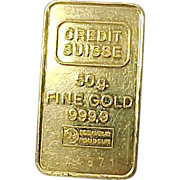 Credit Suisse 999.9 GOLD 50 Gram Bullion Bar / Pamp
