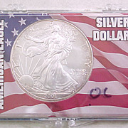 Uncirculated US Silver Eagle Coin In Presentation Pack #7