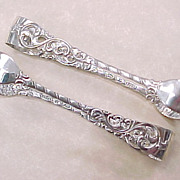 Norway 830 Silver Sugar Tongs By Brodrene Lohne Set of 2