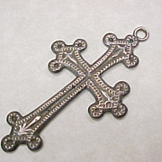 Vintage Sterling Silver Large DANECRAFT Cross Pendant