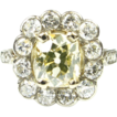 Edwardian Diamond Engagement Ring 2.25 Ctw 1.50 Center Fancy Color