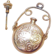 Vintage Gold Charm / Pendant 14K  PERFUME Bottle, Early 1900's
