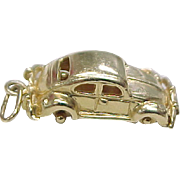 Vintage 14k Gold Automobile Charm VW Beetle / Bug