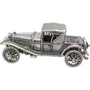 Vintage Sterling Silver Miniature 1912 Hispanosuiza Automobile