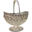 Sterling Silver S Kirk & Son Repousse Footed Basket
