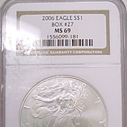 US Silver Eagle Coin NGC Graded MS69   #2