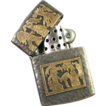 Hand Crafted INCA Lighter 900 Silver 18k Gold Joyeria, Guatemala