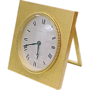Vintage Tiffany & Co Brass Alarm Clock, Manual Wind