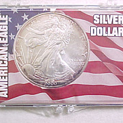 Uncirculated US Silver Eagle Coin In Presentation Pack